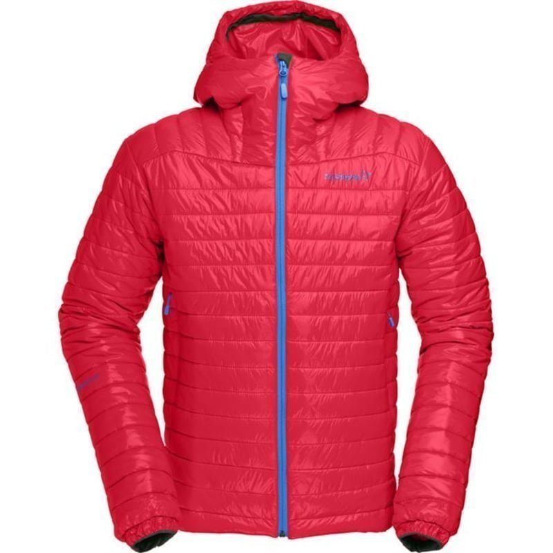 Norrøna Falketind PrimaLoft100 Hood Jacket Men's L Rebel Red