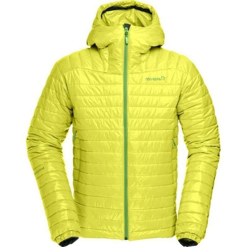 Norrøna Falketind PrimaLoft100 Hood Jacket Men's L Sulphur Spring