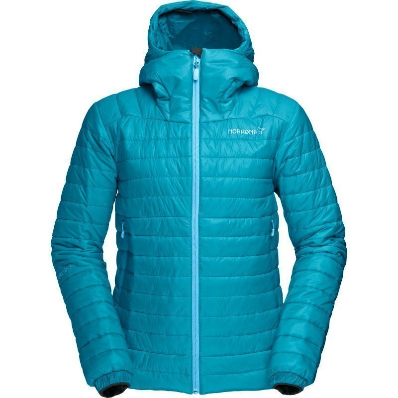 Norrøna Falketind PrimaLoft100 Hood Jacket Women's XL Iceberg Blue