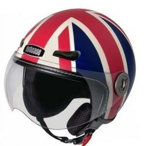 Nutcase Union Jack moottoripyöräkypärä