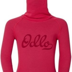 Odlo Kids Warm Shirt plus facemask Punainen 128