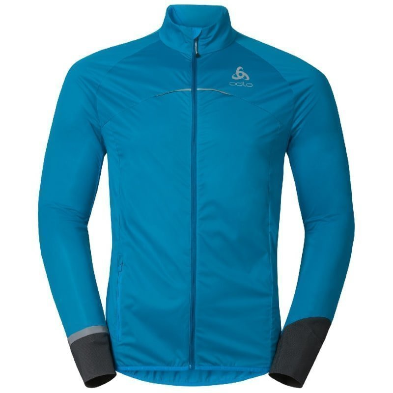 Odlo Men's Zeroweight Logic Jacket S Blue Jewel