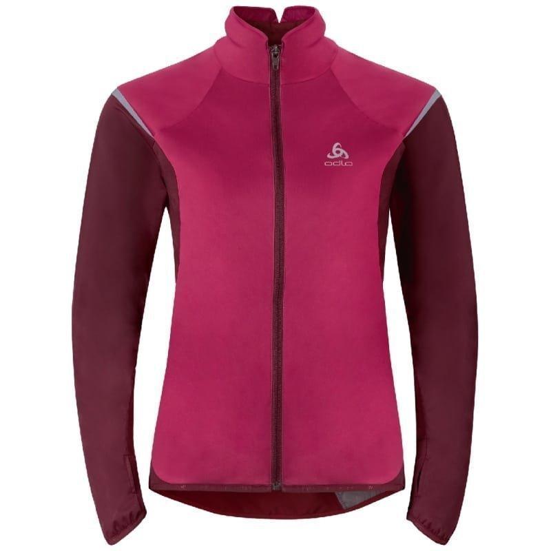 Odlo Women's Zeroweight Logic Jacket L Sangria/Zinfandel