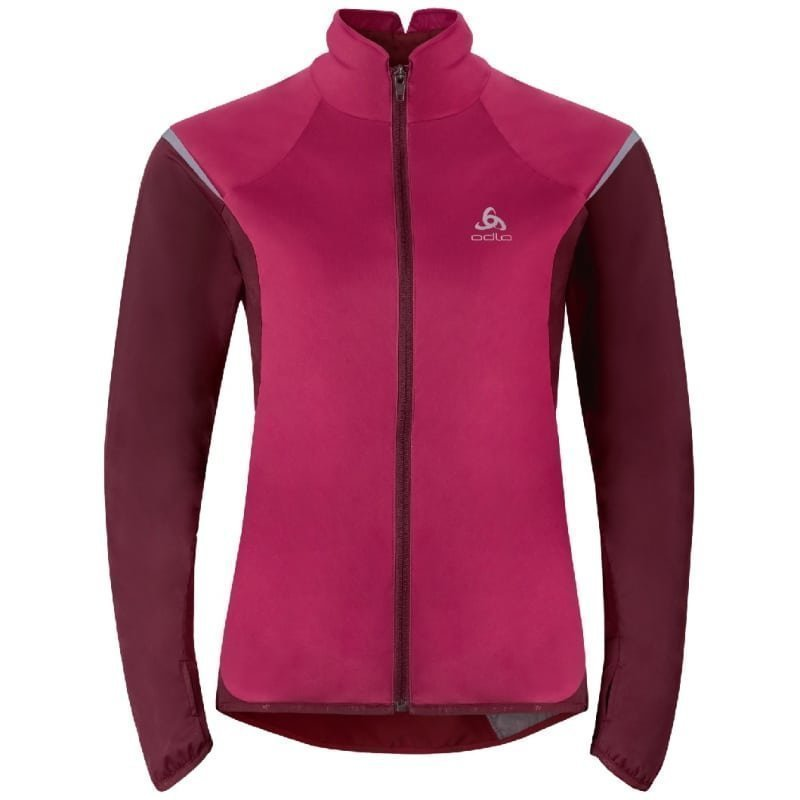 Odlo Women's Zeroweight Logic Jacket XL Sangria/Zinfandel