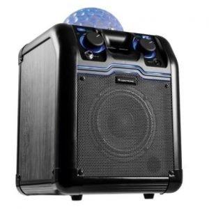 Omnitronic Partyrocker S Bluetooth-kaiutin discovalolla