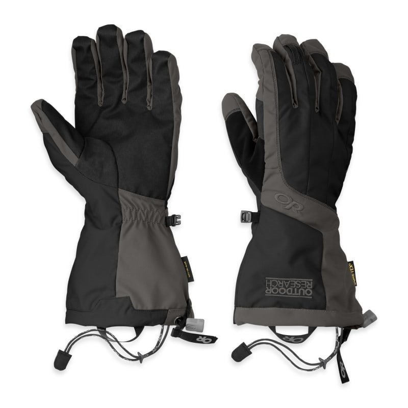 Outdoor Research Arete Gloves Men's L BLACK/CHARCO