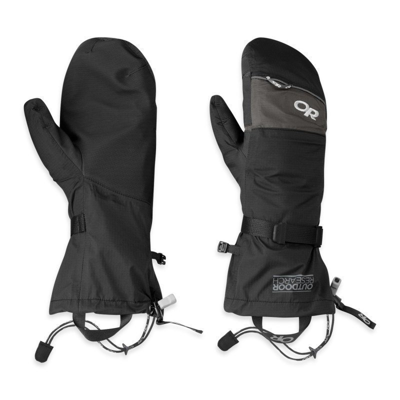 Outdoor Research Revel Shell Mitts XL BLACK/CHARCO
