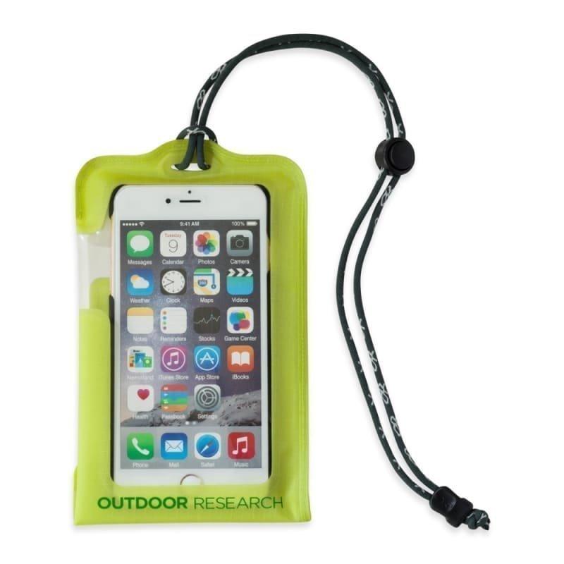 Outdoor Research Sensor Dry Pocket Premium Smartphone LARGE Lemongrass