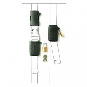 Pacsafe Bucklesafe 100 reppujen ja kassien TSA hyväksytty lukko