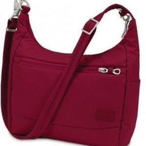 Pacsafe Citysafe CS100 turvakäsilaukku punainen