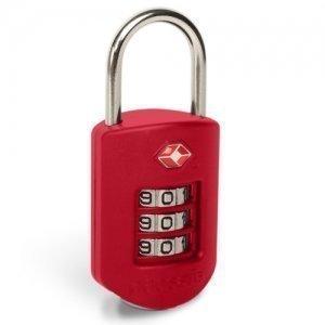 Pacsafe Prosafe 1000 punainen TSA hyväksytty numerolukko