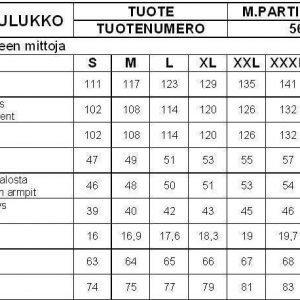 Partiotuote Partiopaita lyhythihainen sininen miesten XXXL