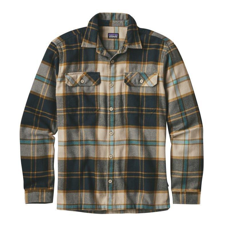 Patagonia Men's L/S Fjord Flannel Shirt S Sugar Pine: El Cap Khaki