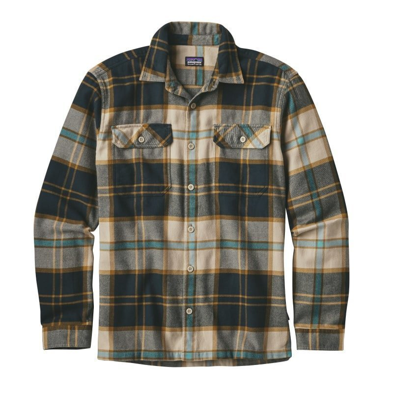 Patagonia Men's L/S Fjord Flannel Shirt XXL Sugar Pine: El Cap Khaki