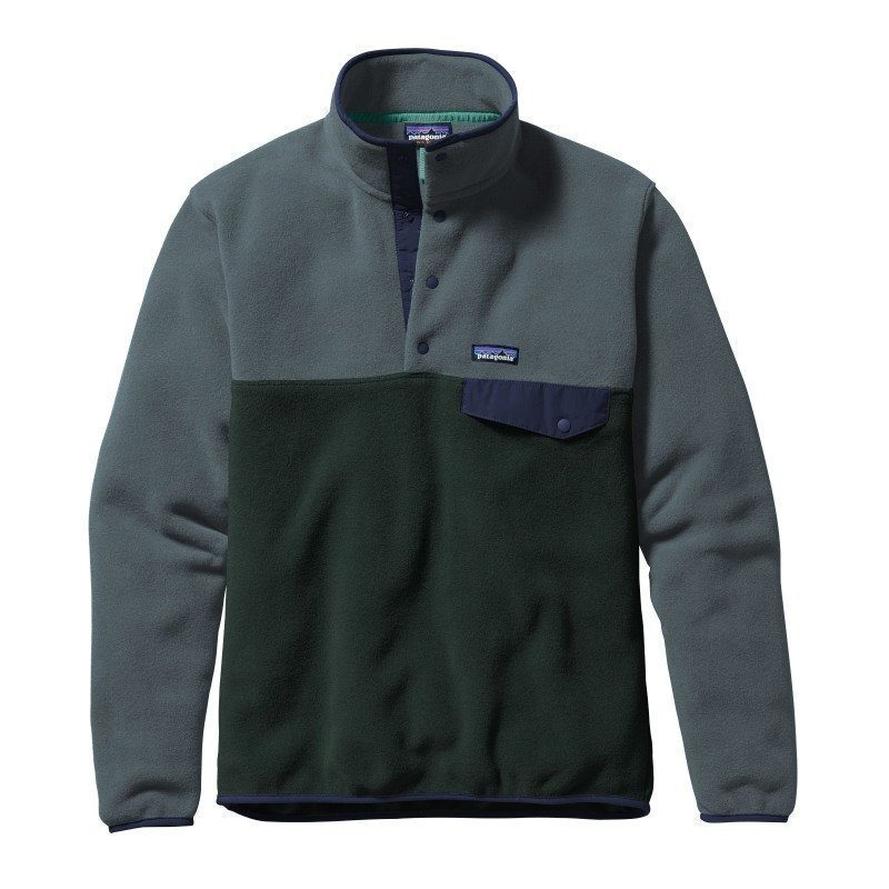 Patagonia Men's LW Synchilla Snap-T Pullover S Carbon
