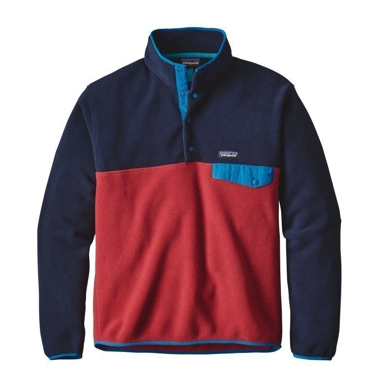 Patagonia Men's LW Synchilla Snap-T Pullover XXL Raspen Red