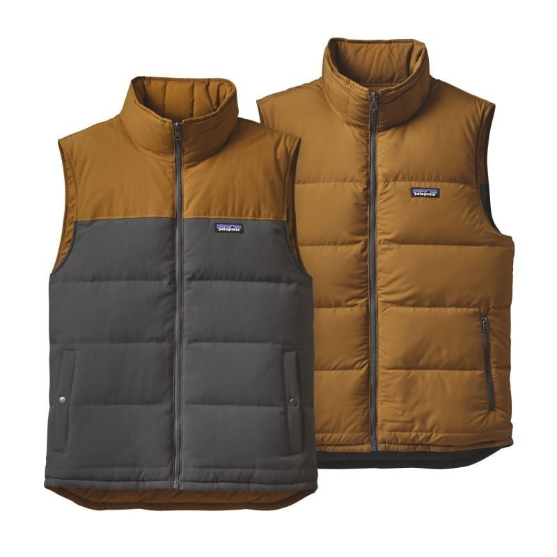 Patagonia Men's Reversible Bivy Down Vest L Forge Grey