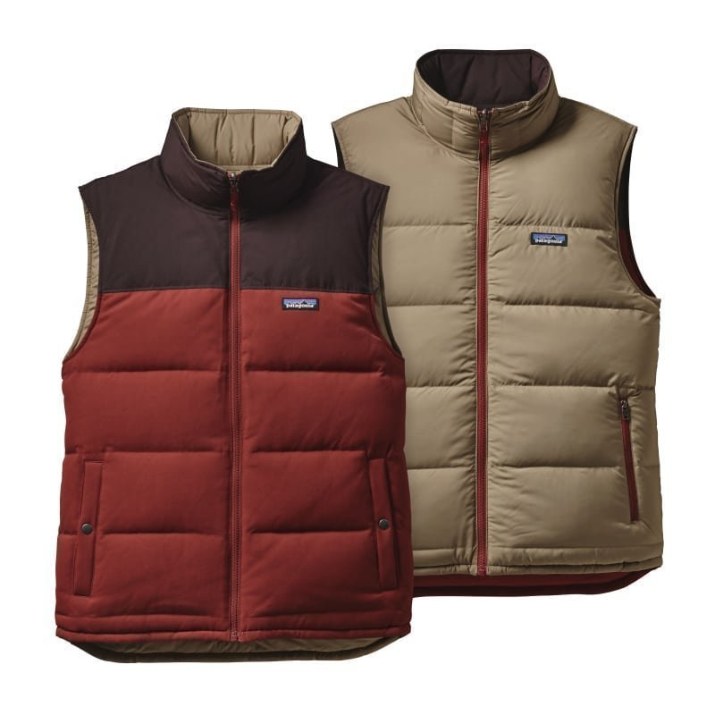 Patagonia Men's Reversible Bivy Down Vest S Cinder Red