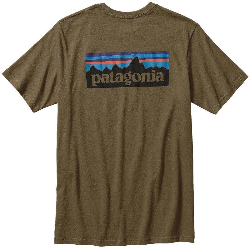 Patagonia M's P-6 Logo Cotton T-Shirt L Fatigue Green