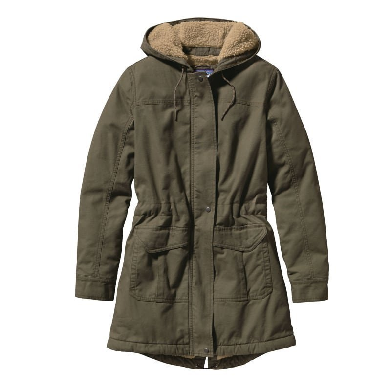 Patagonia Women's Insulated Prairie Dawn Parka L Industrial Green