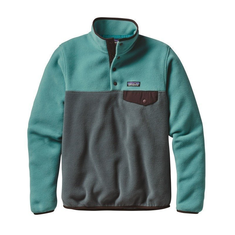 Patagonia Women's LW Synchilla Snap-T Pullover L Nouveau Green