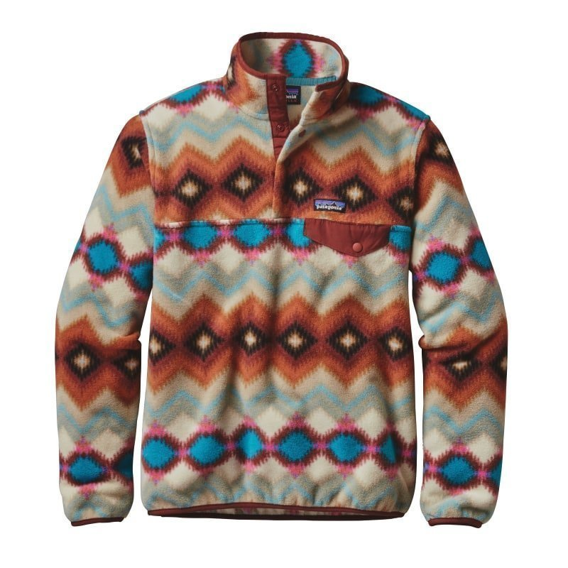 Patagonia Women's LW Synchilla Snap-T Pullover L Timber Twist: Cinder Red