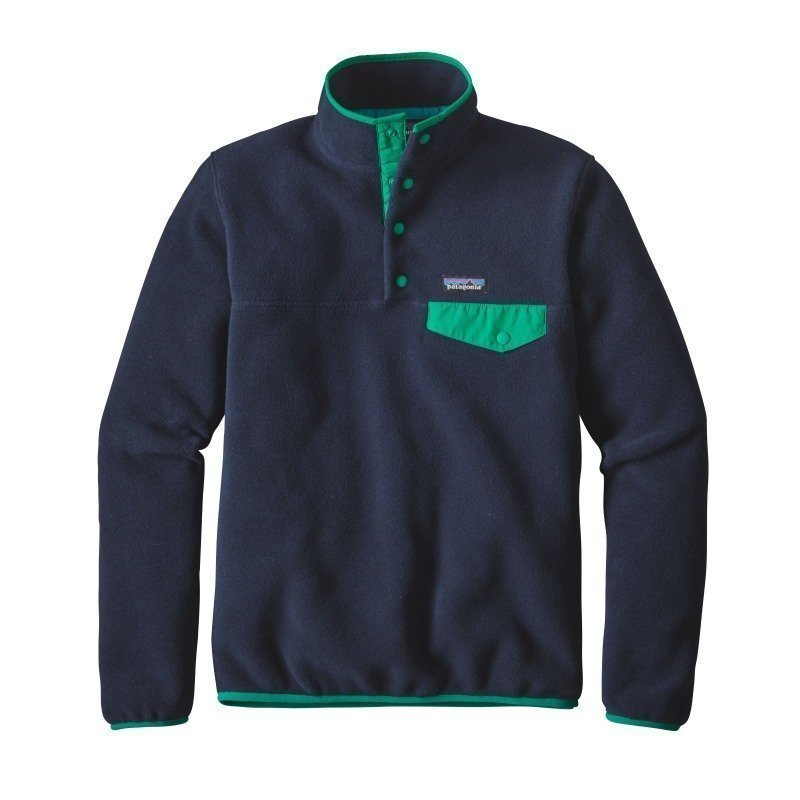 Patagonia Women's LW Synchilla Snap-T Pullover XL Navy Blue