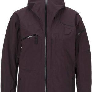 Peak Performance Heli Alpine Jacket Tummanpunainen L