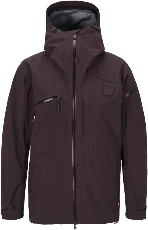 Peak Performance Heli Alpine Jacket Tummanpunainen L