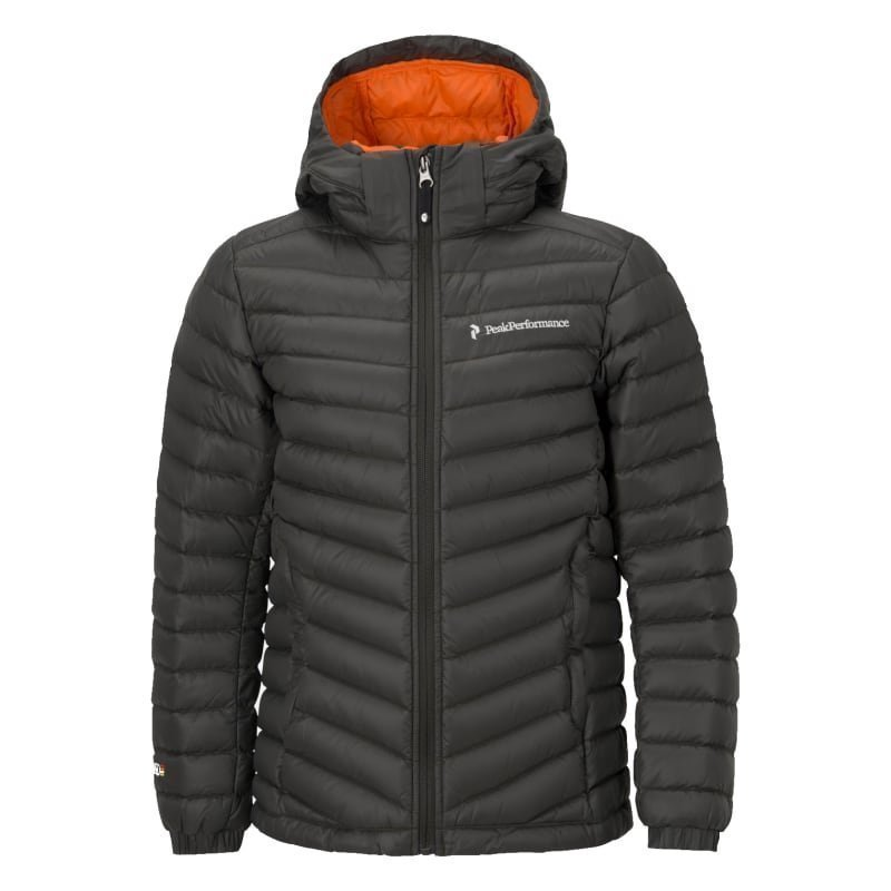 Peak Performance Junior's Frost Down Hood Jacket 140 Black Olive