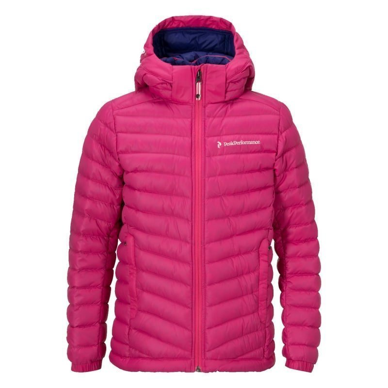 Peak Performance Junior's Frost Down Hood Jacket 150 Magenta Pink