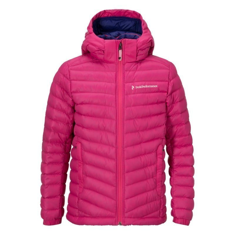 Peak Performance Junior's Frost Down Hood Jacket 160 Magenta Pink