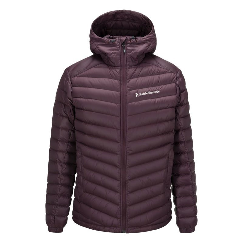 Peak Performance Men's Frost Down Hooded Jacket L Mahogany