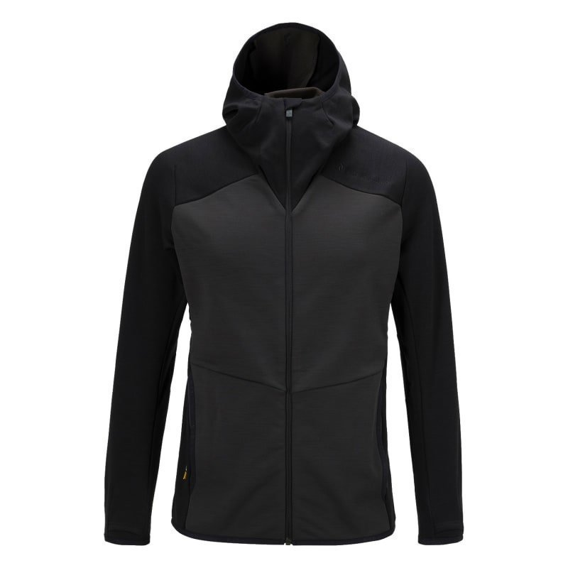 Peak Performance Men's Heli Hooded Zipped Mid-Layer XL Black Olive