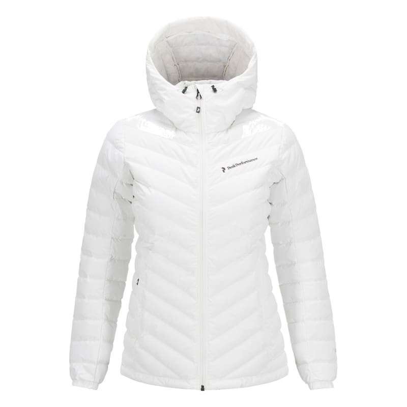 Peak Performance Women's Frost Down Hooded Jacket M Offwhite