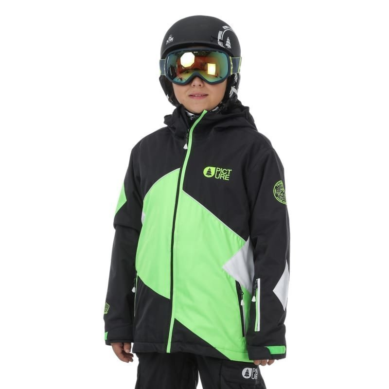 Picture Organic Clothing Seattle Jacket 14 Black Neon Green