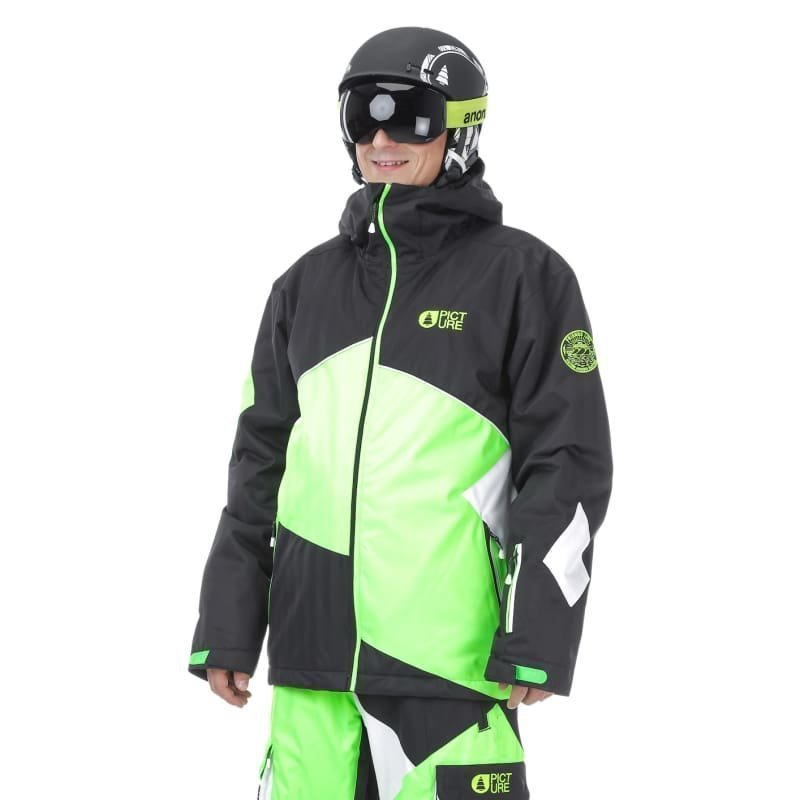 Picture Organic Clothing Styler Jacket S Black/Neon Green/White