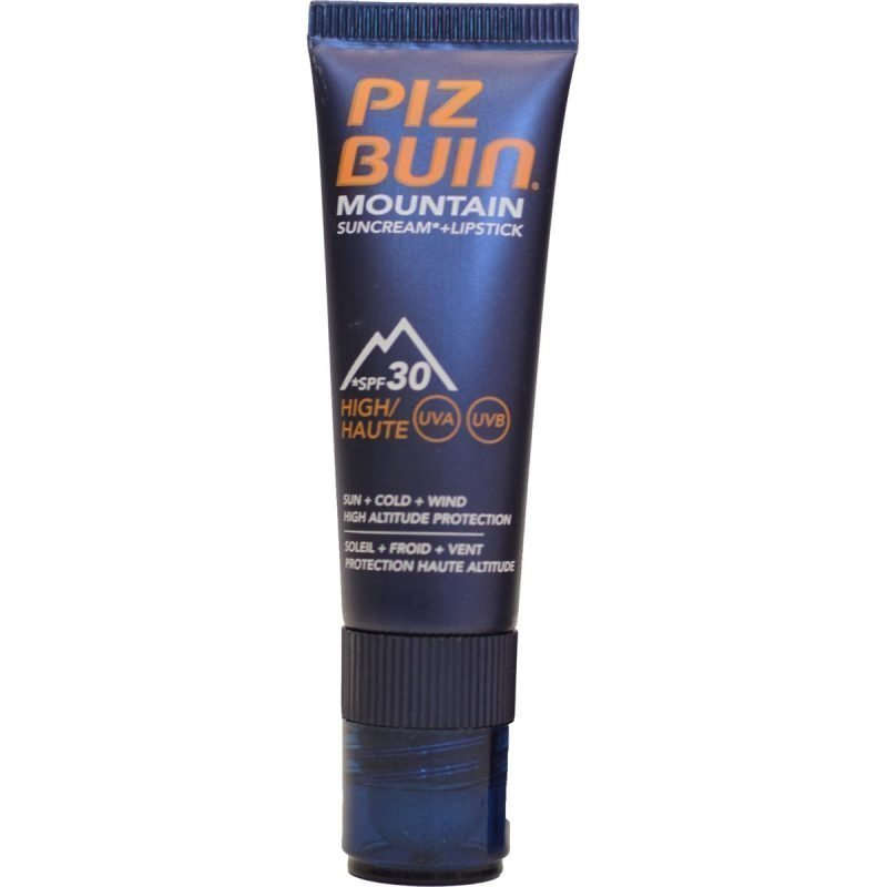 Piz Buin Mountain Sun Cream + Lip Stick voide + huulipuikko SPF 30 20ml