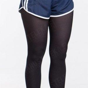 Ranskalaiset urheilualushousut rivot siniset ylijäämä tyttökuvalla