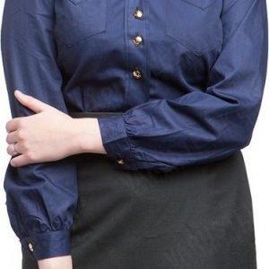 Ruotsalainen naisten kauluspaita tummansininen ylijäämä