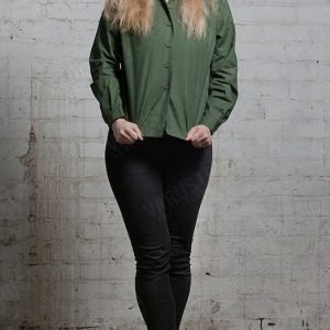 Ruotsalainen naisten kenttäpaita vihreä ylijäämä
