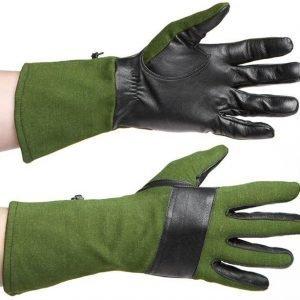 Särmä taisteluhanskat nahka/Nomex vihreä/musta