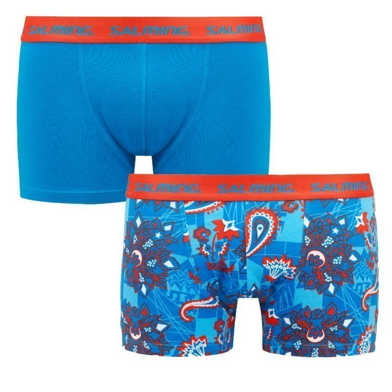 Salming Richview boxer 2-pack XL Solid Turquoise+Turquoise/Red