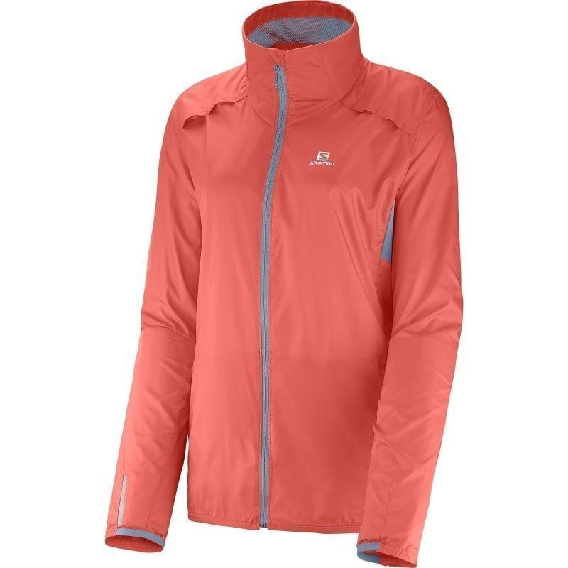 Salomon Agile Jacket Women's XS Coral Punsch/Stone Blue
