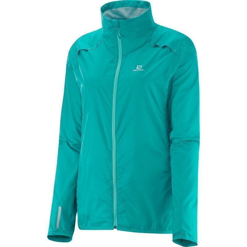 Salomon Agile Jacket Women's XS TEAL BLUE F
