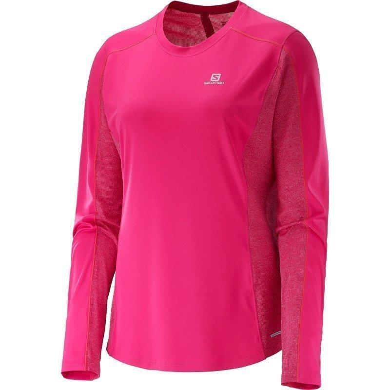 Salomon Agile Ls Tee Women's S Yarrow Pinkgaura Pink