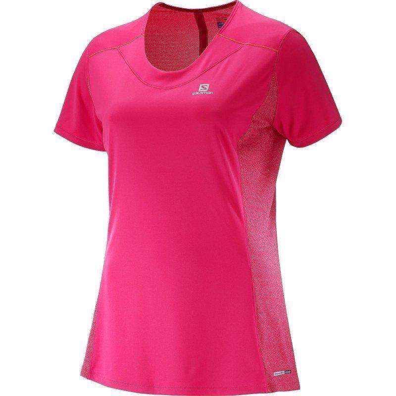 Salomon Agile SS Tee Women's S Yarrow Pinkguara Pink
