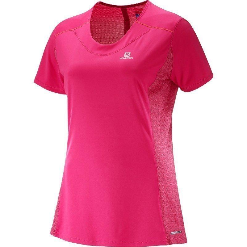 Salomon Agile SS Tee Women's XS Yarrow Pinkguara Pink