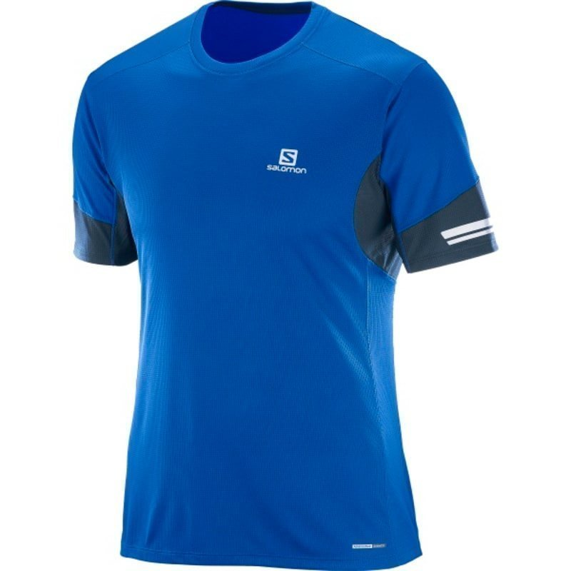 Salomon Agile Ss Tee Men's S BLUE YONDERBIG BLUE-X