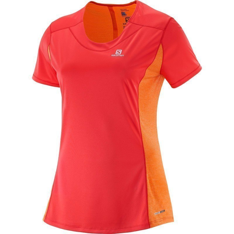 Salomon Agile Ss Tee W XS INFRARED / CAPUCINE ORANGE